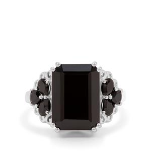 9.55ct Black Spinel Sterling Silver Ring