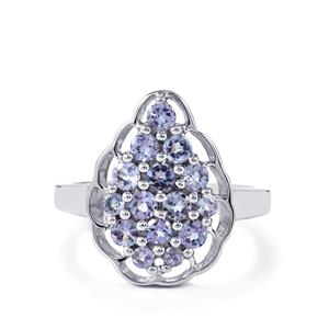 1.11ct Tanzanite Sterling Silver Ring