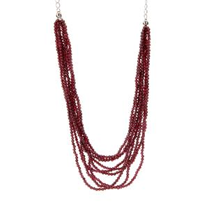 131.15ct Rajasthan Garnet Sterling Silver Necklace