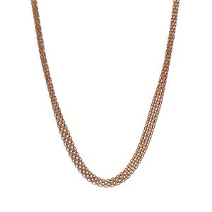 "17"" 9K Gold Altro Graduated Bismark Necklace 6.80g"
