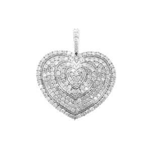 3.55ct Diamond Sterling Silver Pendant