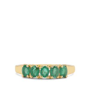 0.75ct Zambian Emerald 9K Gold Ring