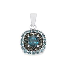 Marambaia London Blue Topaz Pendant with Blue Diamond in Sterling Silver 1.89cts