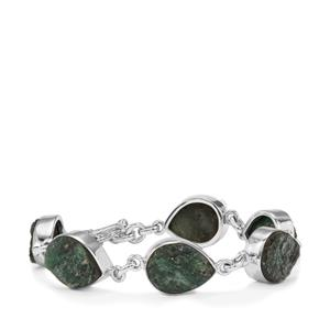 Fuchsite Drusy Bracelet in Sterling Silver 48cts