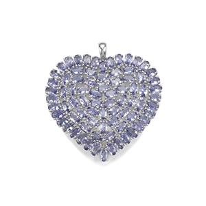 Tanzanite Pendant in Sterling Silver 15.27cts