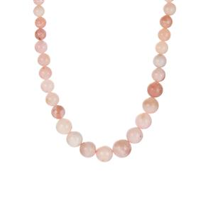 Peruvian Pink Opal Necklace in Sterling Silver 149.70cts