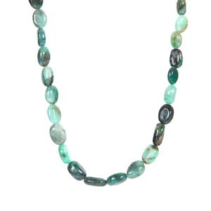 Zambian Emerald Graduated Necklace in Sterling Silver 117.80cts