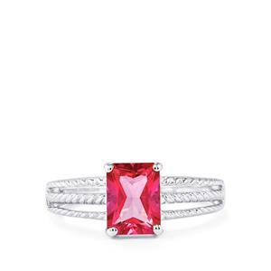 Mystic Pink Topaz Ring in Sterling Silver 1.94cts