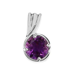 Moroccan Amethyst Pendant in Sterling Silver 1.22cts