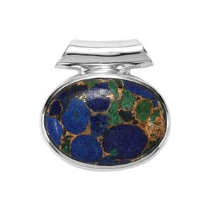 Mojave Azurite Pendant in Sterling Silver 18cts