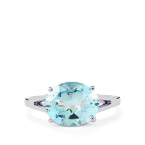 Sky Blue Topaz Ring in Sterling Silver 6cts