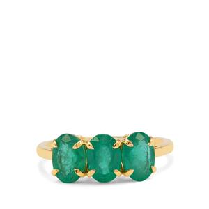 Zambian Emerald Ring in 9K Gold 2.30cts