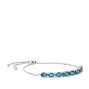 Marambaia London Blue Topaz Slider Bracelet in Platinum Plated Sterling Silver 4.19cts