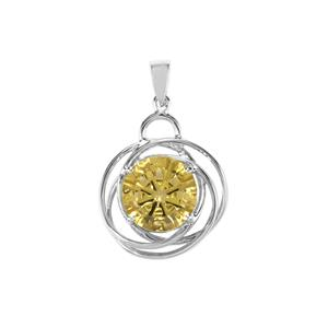 Lemon Quartz Pendant in Sterling Silver 5.67cts