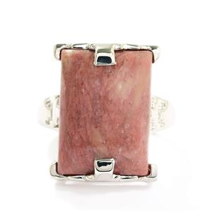 15.34ct Pink Quartz Ring in Sterling Silver