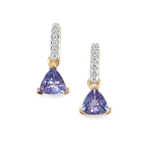1.27ct AA Tanzanite 10K Gold Earrings