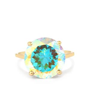 9.78ct Mercury Mystic Topaz 9K Gold Ring
