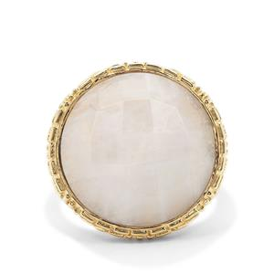 Rainbow Moonstone Ring in Gold Plated Sterling Silver 14.46cts