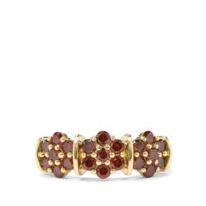 1ct Red Diamond 9K Gold Ring