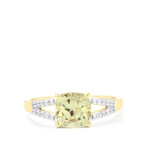 Csarite® Ring with White Zircon in 9K Gold 1.86cts