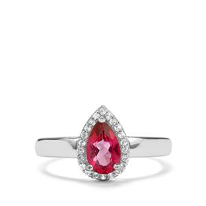 1.04ct Mystic Pink & White Topaz Sterling Silver Designer Ring