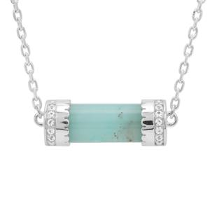 Gem-Jelly™ Aquaprase™ & Thai Sapphire Sterling Silver Necklace ATGW 8.90cts
