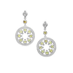 1.32ct Ambilobe Sphene Sterling Silver Earrings