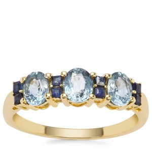 Thai Sapphire Ring with Ceylon Blue Sapphire in 9K Gold 1.55cts