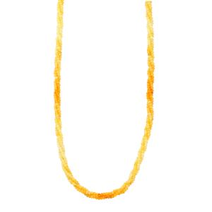 Shaded Yellow Opal Necklace With Magnetic Clasp in Sterling Silver 27cts