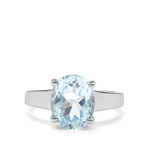 Sky Blue Topaz Ring in Sterling Silver 4.16cts