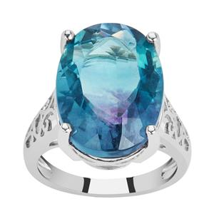 Zebra Fluorite Ring in Sterling Silver 15.68cts