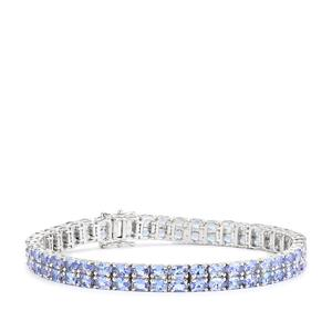 Tanzanite Bracelet in Sterling Silver 13.56cts
