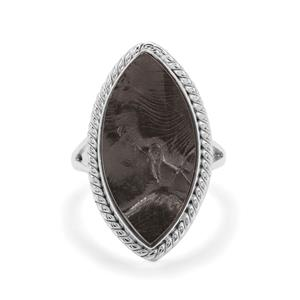 Shungite Ring in Sterling Silver 9.75cts