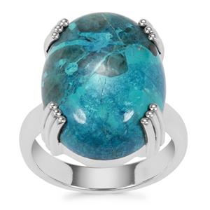 Shattuckite Ring in Sterling Silver 14.50cts