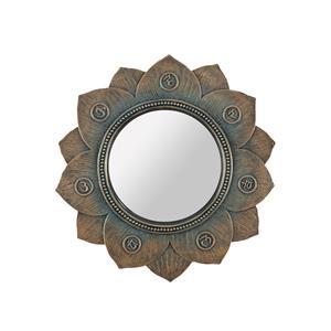 Bronze Lotus Flower Chakra Wall Mirror
