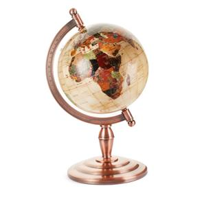 22cm Gemstone Inlaid Globe