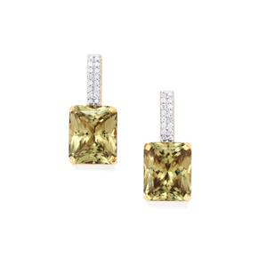 Csarite® Earrings with Diamond in 18k Gold 11.44cts