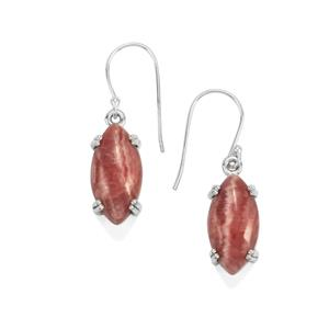 20ct Inca Rose Rhodochrosite Sterling Silver Aryonna Earrings