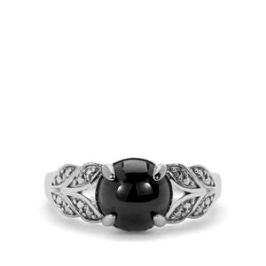 Star Garnet Ring in Sterling Silver 3.82cts