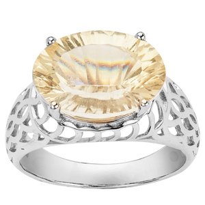 4.93ct Mexican Golden Sunstone Sterling Silver Ring