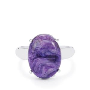 8.56ct Charoite Sterling Silver Ring