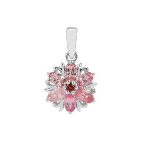 Mozambique Pink Spinel & Nampula Garnet Sterling Silver Pendant ATGW 1.57cts