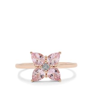 Cherry Blossom™ Morganite Ring with Diamond in 9K Rose Gold 1.05cts
