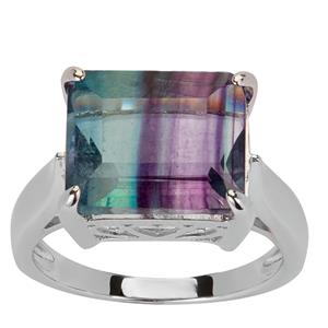 Zebra Fluorite Ring in Sterling Silver 8.04cts