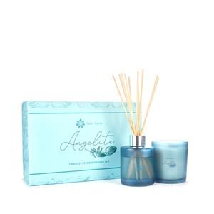 Angelite Fragranced Candle and Reed Diffuser Christmas Set - ATGW 65cts