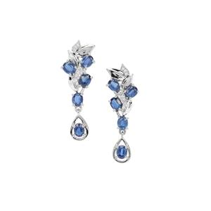 Daha Kyanite Earrings with Natural Zircon in Sterling Silver 4.77cts