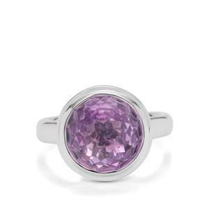 8.10ct Eden Cut Rose De France Amethyst Britannia Silver Ring