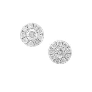 1/3ct Diamond 9K Gold Earrings