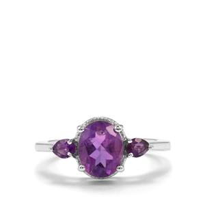 Zambian Amethyst Ring in Sterling Silver 1.29cts