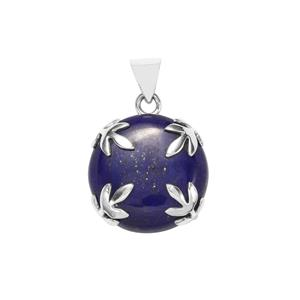 Sar-i-Sang Lapis Lazuli Pendant in Sterling Silver 39cts